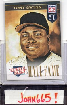 TONY GWYNN - 2012 TRIPLE PLAY HALL OF FAME #279 - MINT - SAN DIEGO PADRES - FREE S/H