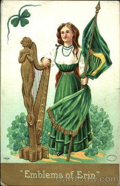 Patrick's Day Clipart - Emblems of Erin St Patricks Day Clipart, St Patricks Day Cards, Saint Patricks, St Patrick's Day, Celtic Signs, Shamrock Ireland, Irish Costumes, Norse Pagan, Erin Go Bragh
