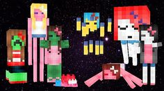 Fashionable Mobs Minecraft Texture Pack<<<I LOVE THIS SOOOO MUCH!!!! The zombie and endermen is so cute! <-- this is cool