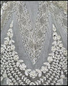 Irish crochet lace with batiste insertion