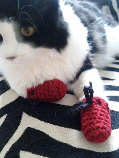 I wonder if my sister's kitten would wear these??  lol Kitten Mittens!!!!!!! $13.00, via Etsy.
