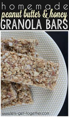 Homemade Peanut Butter & Honey Granola Bars