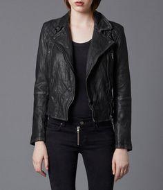 AllSaints Cargo Leather Biker Jacket   Womens Leather Jackets