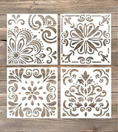 GSS Designs Pack of 4 Stencils Set (6x6 Inch) Laser Cut P... https://www.amazon.com/dp/B074114RW8/ref=cm_sw_r_pi_dp_U_x_BcaVAb2N86PTF