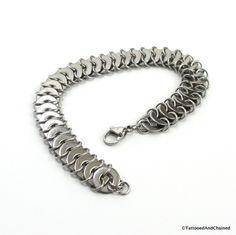 Bracciale chainmail di rondella gioielli in acciaio inox per