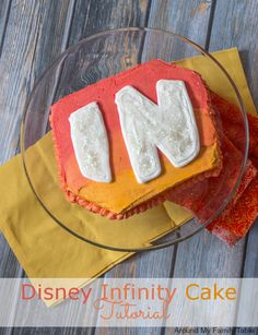 Disney Infinity Cake Tutorial | AroundMyFamilyTable.com