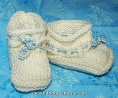 ABC Knitting Patterns - Baby Booties