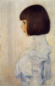 """Gustav Klimt >> Portrait of Helene Klimt    """"Portrait of Helene Klimt"""""""