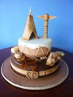 Wild West, cowboys & Indians #cake  by Paul Delaney