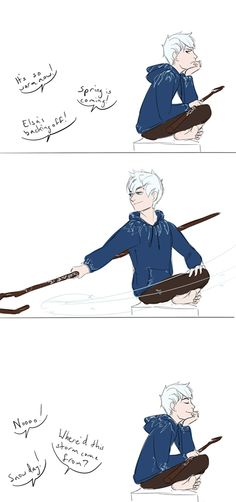 """Elsa?"" pffft. Jack Frost thank you very much."