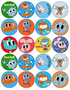 THE AMAZING GUMBALL V1 EDIBLE WAFER PAPER CUPCAKE CAKE MUFFIN TOPPERS | eBay