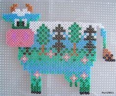 Cow hama perler beads by Les loisirs de Pat