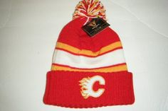 Calgary Flames NEW Authentic Beanie Toque Knit Hat by Vintage. $16.99