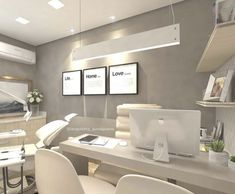 Stunning Medical Office Design Ideas - cabinet - Home Office Medical Office Interior, Medical Office Design, Home Office Design, Home Office Decor, Office Furniture, Office Desk, Office Designs, Office Lounge, Healthcare Design