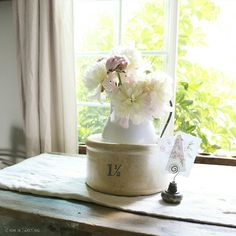 Farmhouse Flowers - Peonies  at home on SweetCreek