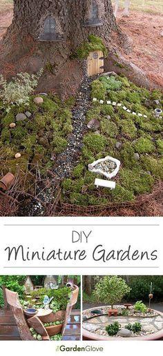 From the Garden Glove:  DIY Mini Gardens • Ideas & Tutorials! #minigardens #gardeninggloves