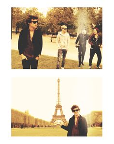 Wow harry on the bottom pic trying to do the thing where the Eiffel Tower is in his hand. Harry, honey bunches that was a fail. Lol he's such a dork sometimes. But he's my dork                                 ↗ Haha Spongebob refrence.
