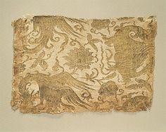 Textile with Phoenix, Winged Animal and Flowers Date: 13th–early 14th century Culture: Central Asia Medium: Silk and metallic thread lampas Dimensions: 9 5/16 x 6 1/2 in. (23.7 x 16.5 cm) Classification: Textiles Credit Line: Gift of Mrs. Howard J. Sachs, in memory of Arthur Upham Pope, 1973 Accession Number: 1973.269 with Phoenix, Winged Animal and Flowers