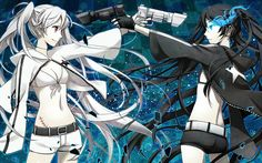 black_rock_shooter black_rock_shooter_(character) vocaloid white_rock_shooter yunco