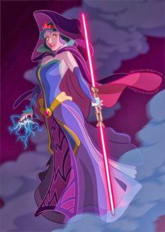 El desván del Freak: Princesas Disney con sables láser. ¿Quieres ver más?