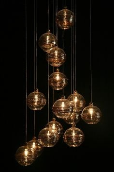 love lighting that looks like falling stars...artisancraftedlighting.com