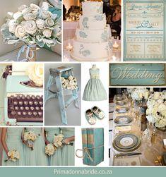 Vintage Wedding Ideas | Wedding colours: Blue and ivory