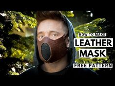 Remember, that mask won't protect you by anything but will let other people stay away from you! ▶I will show you how to make leather mask . How to make that .