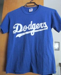 BLUE Uni-sex Youth L.A..Los Angeles Dodgers Russell T- Shirt Children's Small