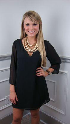 tunic little black dress.