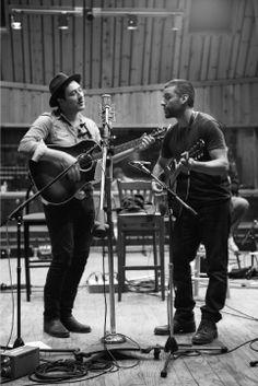 Marcus Mumford and Oscar Isaac