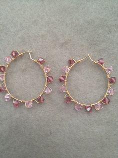LOVE this etsy shop! 14kt GF Swarovski Crystal Earrings by PETreasures on Etsy
