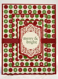 """Effective use of """"busy"""" pattern --- very cheery. Stampin' Up! Chalk Talk All Year Cheer handmade Christmas card Stamped Christmas Cards, Christmas Card Crafts, Homemade Christmas Cards, Christmas Scrapbook, Christmas Greeting Cards, Greeting Cards Handmade, Handmade Christmas, Homemade Cards, Holiday Cards"""