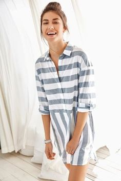 A nightshirt that looks GOOD enough to wear as an everyday outfit! Pajamas  Women 572ed83c9