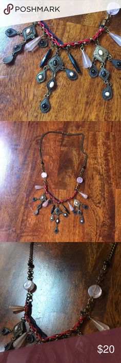 Free People Tribal Neck Bib Necklace Necklace from free People purchased 4 years ago Feel free to ask questions Free People Jewelry Necklaces