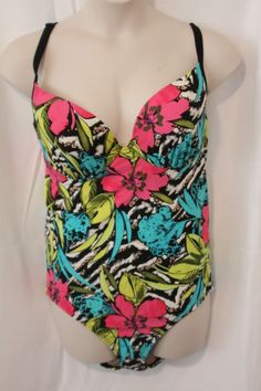 0133f68164d Swim by Cacique Womens Swimsuit Size 22 floral Padded Bra Top One Piece New  #Cacique
