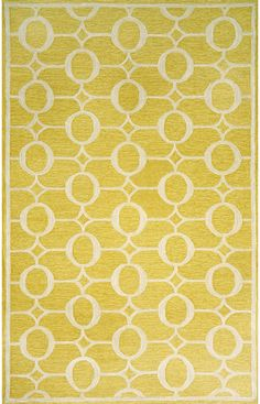 Trans Ocean Spello Outdoor Arabesque Yellow Rug  the color is risky - won't know if its right till it gets here 5'x7'6 $279