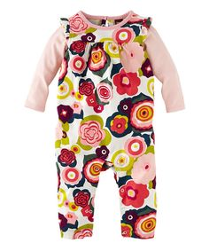 Look at this Chalk Floral Die Brucke Layered Playsuit - Infant on #zulily today!