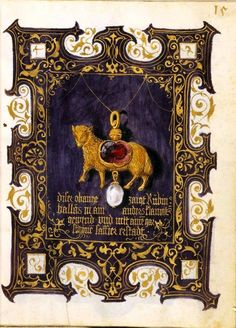 The Jewel Book of Duchess Anna of Bavaria.