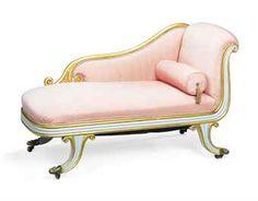 Regency chaise longue, 1810
