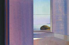 Leonardo Cremonini (Italian, 1925-2010), Il sole nell'ombra [The sun in the shade], 1994-99. Oil on canvas, 83.5 x 125.5 cm.