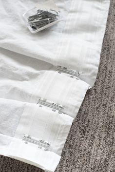 How to Pinch Pleat IKEA Curtains - roomfortuesday.com