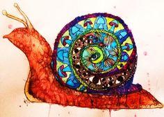 snail drawing - Google Search