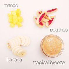 Tropical breeze puree #babyfoodrecipes