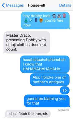 The best thing you'll read all week: 12 Harry Potter txt conversations