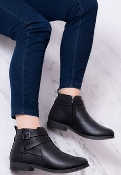 28 Best flat black ankle boots images | Fashion, Winter