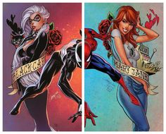 Amazing Spider-Man Vol 4 Midtown Exclusive J Scott Campbell Composite Part 1 Gatefold Cover. After ten years, Dan Slott's final issue of THE AMAZING SPIDER-MAN is here, and he isn't pulling any punches. Spiderman Black Cat, Spiderman Girl, Black Cat Marvel, Amazing Spiderman, Marvel Comic Universe, Marvel Art, Marvel Dc Comics, Marvel Heroes, Marvel Women