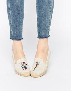 Image 1 ofSoludos Jason Polan Pinata Espadrille Flat Shoes