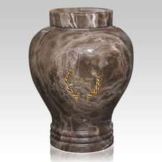 The Winston Marble Cremation Urn (large) features a wonderful design with amazing vivid colors. The urn is made from a solid block of natural marble. A wonderful way to memorialize your loved one.
