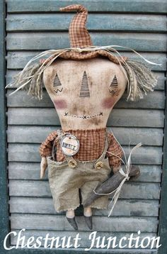 Bo Scarecrow epattern  primitive halloween by chestnutjunction, $3.99