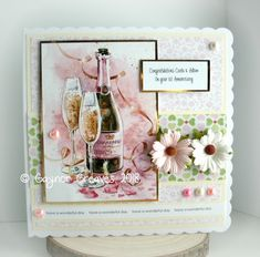 Hi friends I have an Anniversary card to share today I've used one of my fav images from Hunkydory papers from LOTV sentiments. 1st Anniversary Cards, Anniversary Ideas, Birthday Treats, Birthday Cards, Hunkydory Crafts, Square Card, Pretty Cards, Little Books, Wedding Wishes